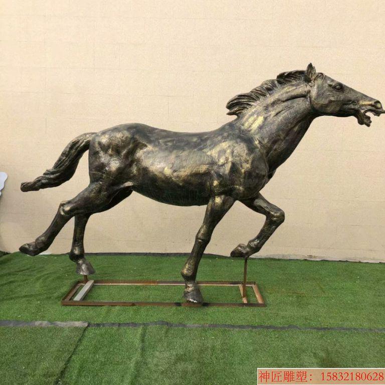 玻璃钢仿铜马雕塑