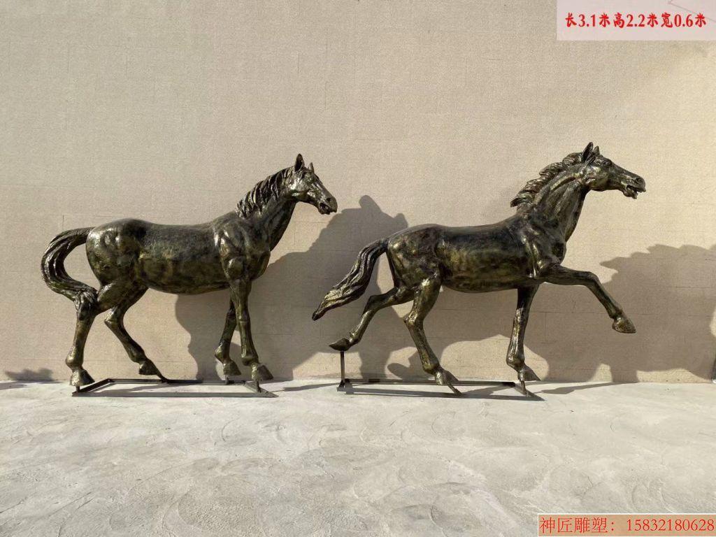 玻璃钢仿铜马雕塑4