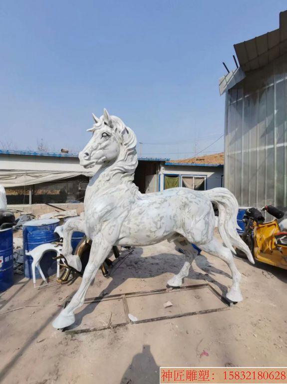 玻璃钢马雕塑 静态马雕塑
